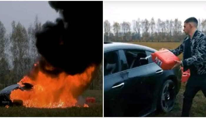VIDEO: 2 કરોડની પોતાની મર્સિડિઝ કારને YouTuber એ લગાવી આગ, ચોંકાવનારું છે કારણ