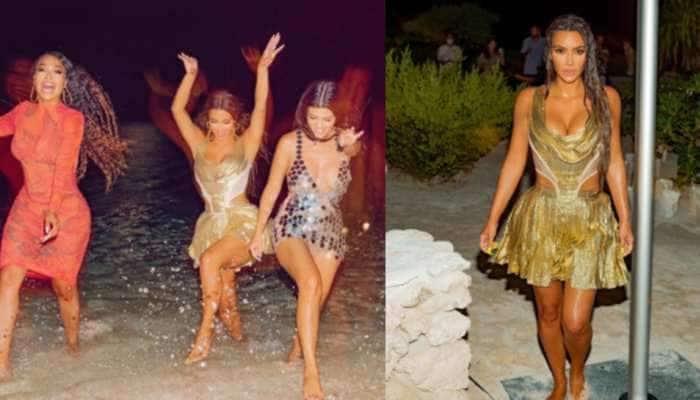 PICS: Kim Kardashian નો બર્થડે, ગોલ્ડન બિકિની અવતારે ઇન્ટરનેટ પર મચાવ્યો હંગામો
