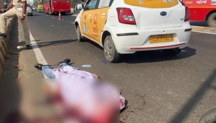અમદાવાદ: નહેરુબ્રિજ પર AMC ના કારચાલકે સાયકલ સવારને અડફેટે લેતા મોત