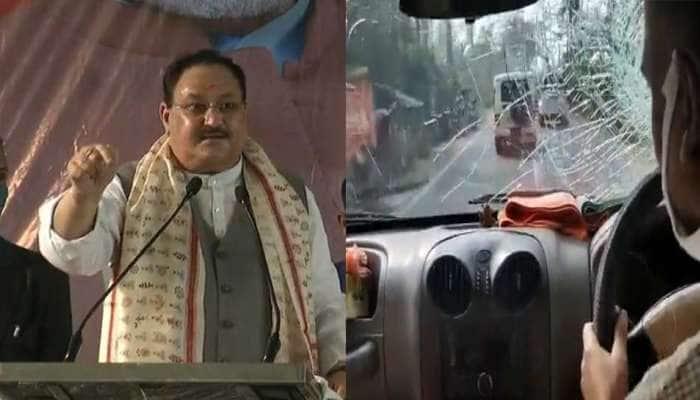 પ.બંગાળ: BJP અધ્યક્ષ JP Nadda ના કાફલા પર પથ્થરમારો, કૈલાશ વિજયવર્ગીયની ગાડીનો કાચ તૂટ્યો