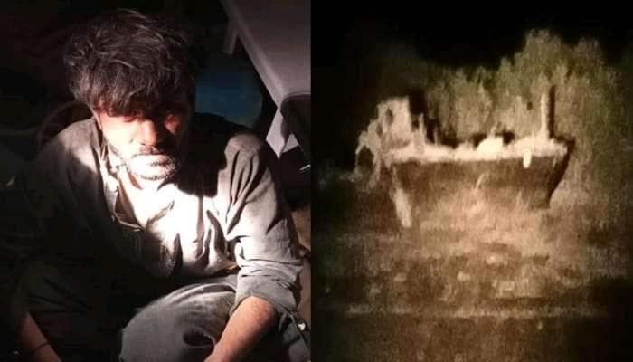અત્યંત સંવેદનશીલ પાકિસ્તાની બોર્ડર નજીકથી પકડાયો એક શખ્સ, બોટ-મોબાઇલ ઝડપાયા