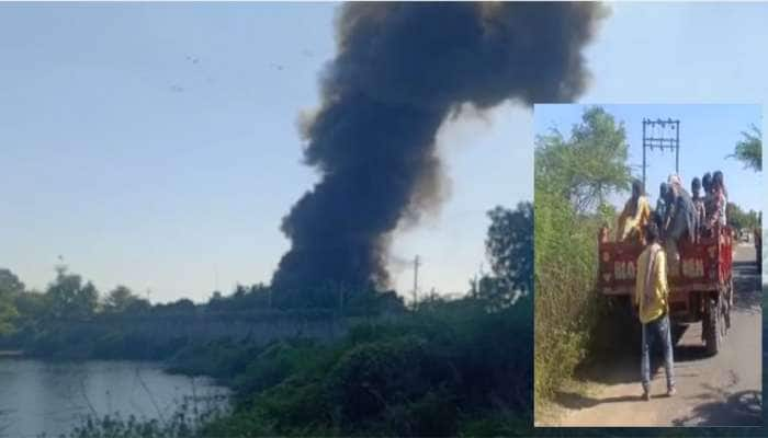 ગોધરાની કુશા કેમિકલ કંપનીમાં ભીષણ આગ, ડરના માર્યે આસપાસના ગામ ફટાફટ ખાલી થયા