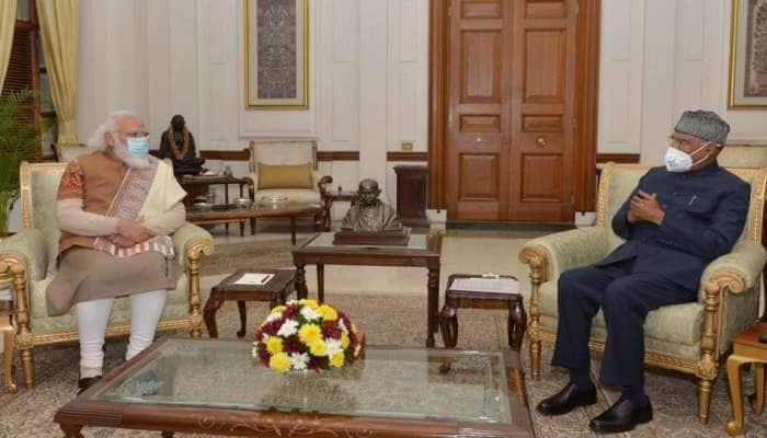 PM મોદીએ રાષ્ટ્રપતિ રામનાથ કોવિંદ સાથે કરી મુલાકાત, નવા વર્ષની શુભેચ્છા આપી