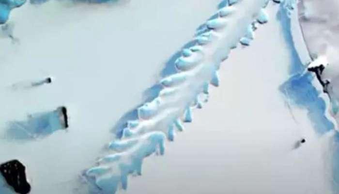 Antarctica માં બરફ ઉપર જોવા મળી આવી આકૃતિ, NASA ના વૈજ્ઞાનિકો પણ આશ્વર્યમાં