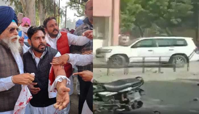 Punjab: અકાલી દળના નેતા Sukhbir Singh Badal ની ગાડી પર હુમલો, ધડાધડ ગોળીઓ છૂટી