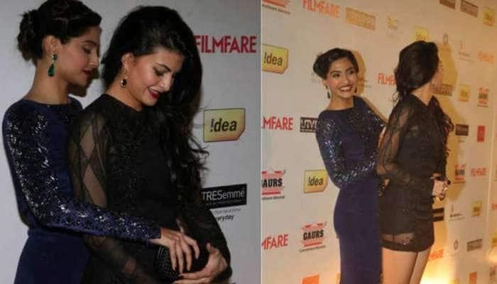 Jacqueline Fernandez થઈ Wardrobe Malfunction નો શિકાર, Sonam Kapoor એ આ રીતે બચાવી 'લાજ'