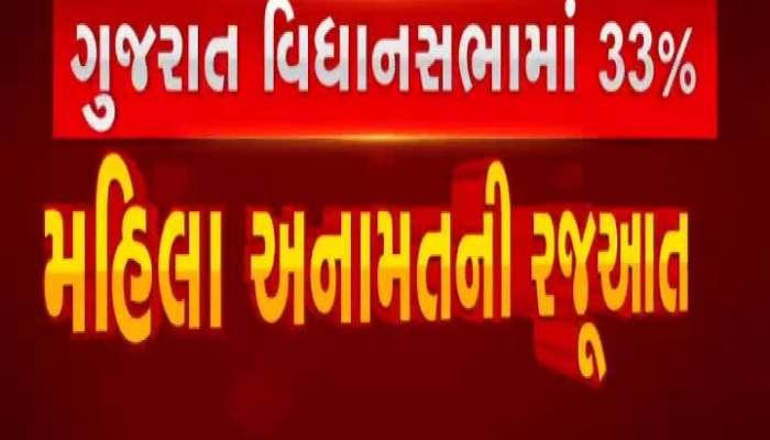 Representation of 33% women reserve in Gujarat Legislative Assembly