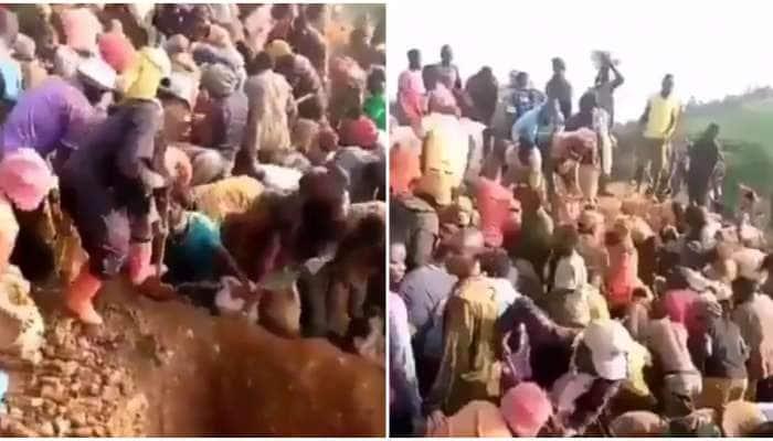 Gold Mountain Viral Video: સોનાનો પહાડ જોતા જ લોકોના હોશ ઉડ્યા, લૂંટ માટે મચી ભાગદોડ