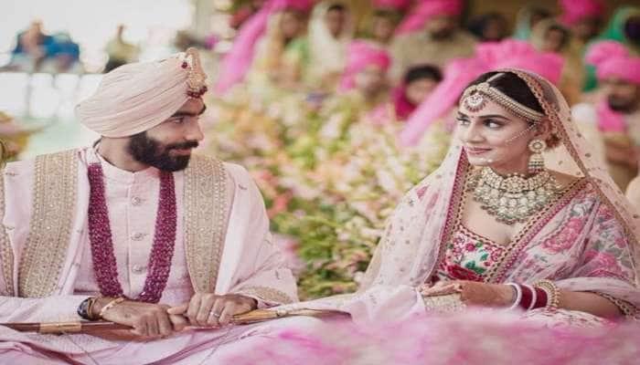 Jasprit Bumrah અને સંજના ગણેશને કરી નવા જીવનની શરૂઆત, જુઓ લગ્નની તસવીરો