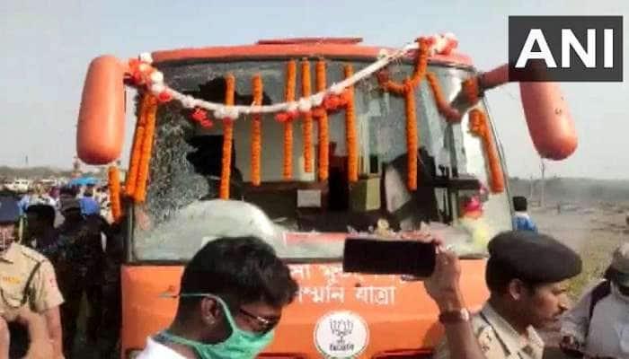 West Bengal: પુરૂલિયામાં ભાજપના ચૂંટણી રથ પર હુમલો, નડ્ડાએ કહ્યું- ડરી ગઈ છે TMC