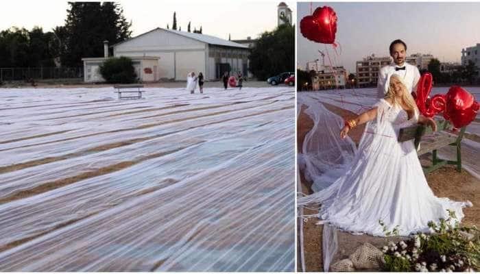 Longest Wedding Veil: દુનિયાનો સૌથી લાંબો વેડિંગ ડ્રેસ, દુલ્હને બનાવ્યો વર્લ્ડ રેકોર્ડ