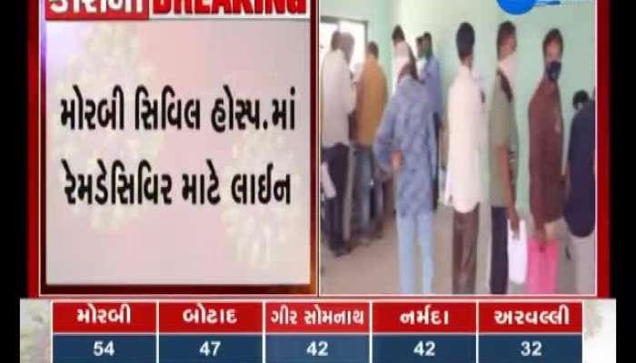 The big line for Ramdasivir in Morbi Civil, watch the video