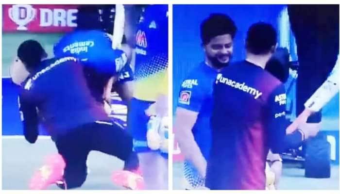 IPL 2021: હરભજન સિંહને પગે લાગ્યો સુરેશ રૈના, આવુ હતુ ભજ્જીનું રિએક્શન, જુઓ Video