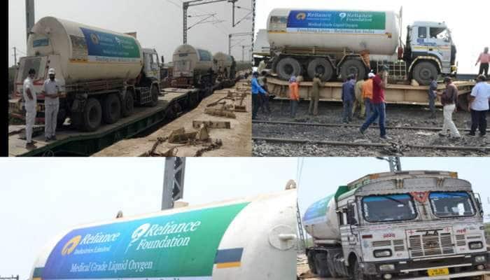 Gujarat થી મહારાષ્ટ્ર માટે ત્રણ ઓક્સિજન ટેંકરોને રો-રો સર્વિસ દ્વારા મોકલવાયા