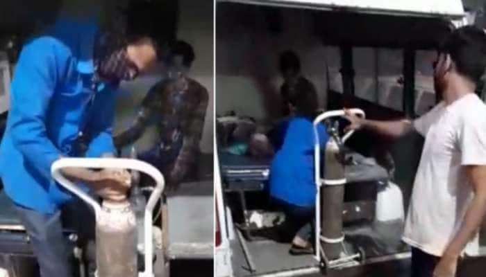 Viral Video: એમ્બ્યુલન્સમાં દર્દી તડપતી રહી, ઓક્સિજનના અભાવે મહિલાનું મોત