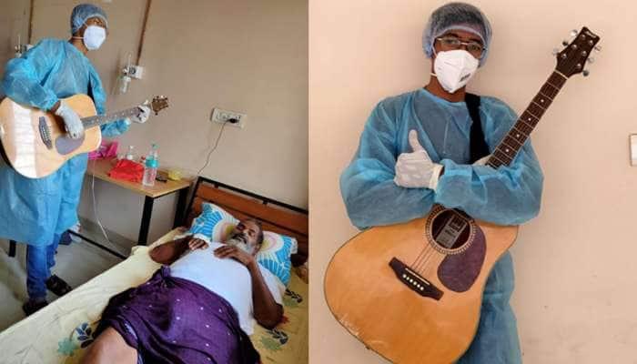 મેહુલના ગીત સંગીતના લાઈવ પર્ફોમન્સ સાથે દર્દીઓ મિલાવે છે સુર, તાળીઓના તાલે ભૂલ્યા તેમનું દર્દ