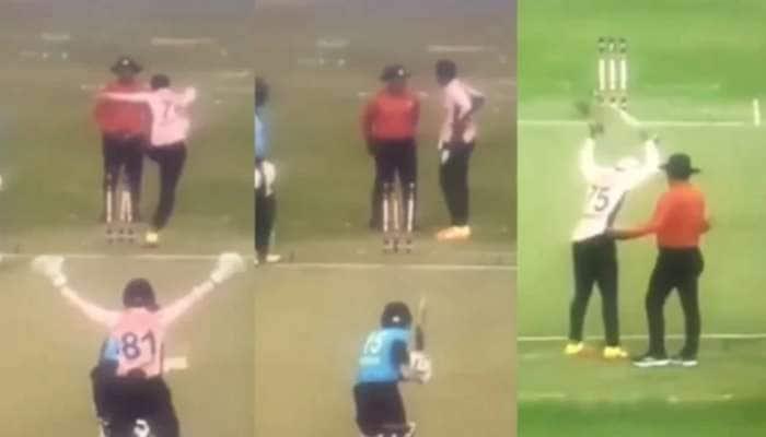 Viral Video: મેચમાં ગુસ્સાથી પાગલ થયો આ ક્રિકેટર, સ્ટંપ ઉઠેડી અમ્પાયર પર પાડી બુમો