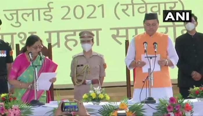 Uttarakhand: આજથી ઉત્તરાખંડની કમાન પુષ્કર સિંહ ધામીના હાથમાં, રાજ્યના 11માં મુખ્યમંત્રી તરીકે લીધા શપથ