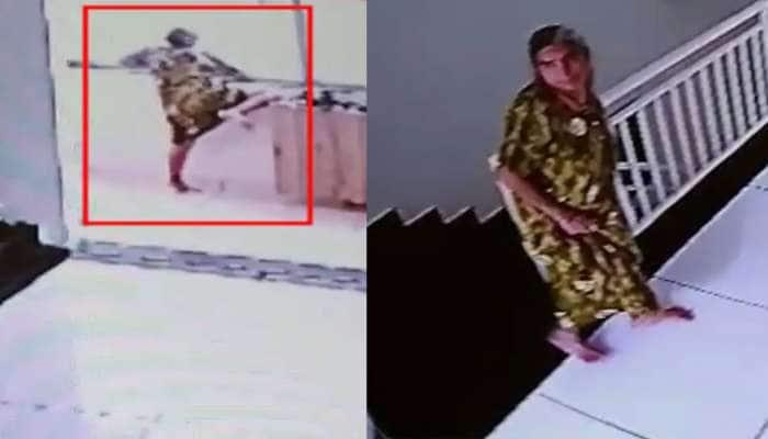 રાજકોટ : વૃદ્ધાએ સાતમા માળથી કૂદીને મોત પસંદ કર્યું, આખી ઘટના CCTV મા કેદ