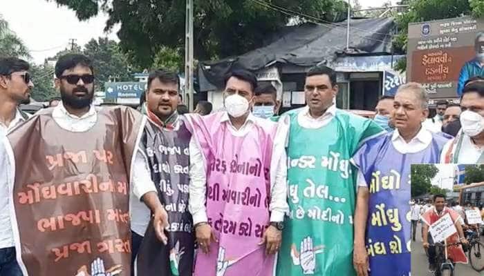 Bharuch: વિરોધ પ્રદર્શન દરમિયાન કોંગ્રેસના આગેવાનો અને પોલીસ વચ્ચે રકઝક , કોંગી કાર્યકરોની અટકાયત