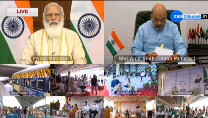PM મોદીએ 1100 કરોડનાં પ્રકલ્પોનું કર્યું લોકાર્પણ, અમિત શાહ, CM રૂપાણી, નીતિન પટેલ સહિતનાં નેતાઓ હાજર