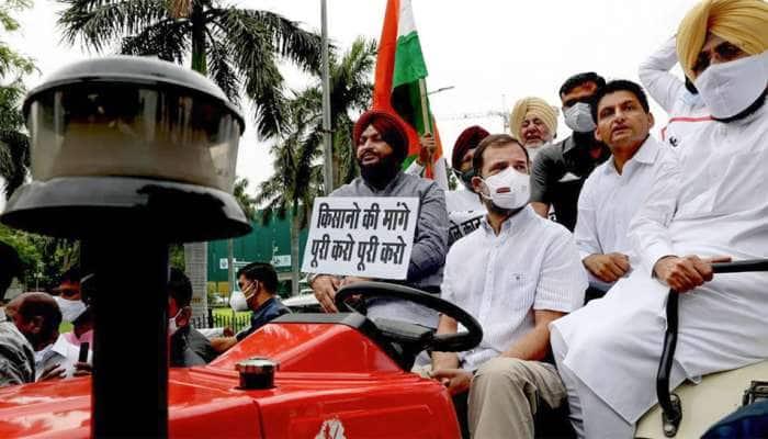 Monsoon Session: ટ્રેક્ટર ચલાવીને સંસદ પહોંચ્યા રાહુલ ગાંધી, કહ્યું-ખેડૂતો માટે લાવ્યો છું સંદેશ