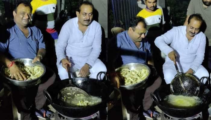 ગુજરાત સરકારના મંત્રી કેમ અચાનક જાહેરમાં બટાકાની કાતરી તળવા બેઠાં? વાયરલ થઈ રહી છે તસવીરો
