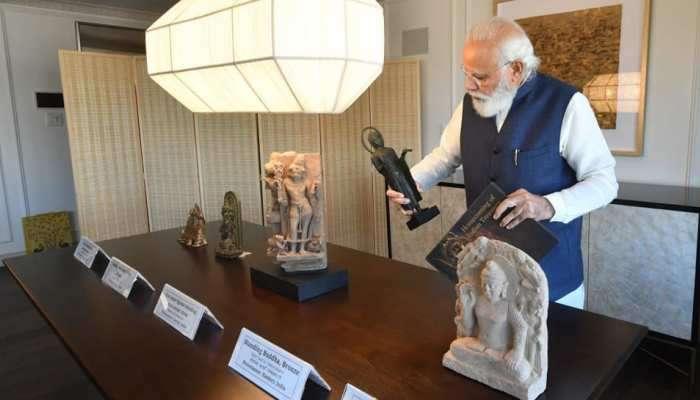 PM Modi US visit: અમેરિકાએ આપી 157 'રિટર્ન ગિફ્ટ', ભારતના 'અમૂલ્ય ખજાના'ની ઘર વાપસી, જુઓ PICS