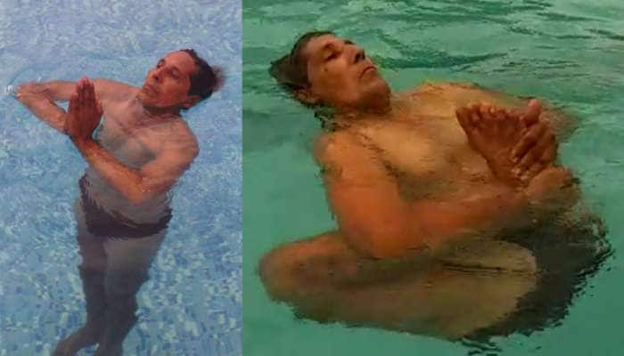 Yoga Day 2019 : પાણીની સપાટી પર વર્ષોથી યોગાસન કરી રહ્યો છે આ વ્યક્તિ